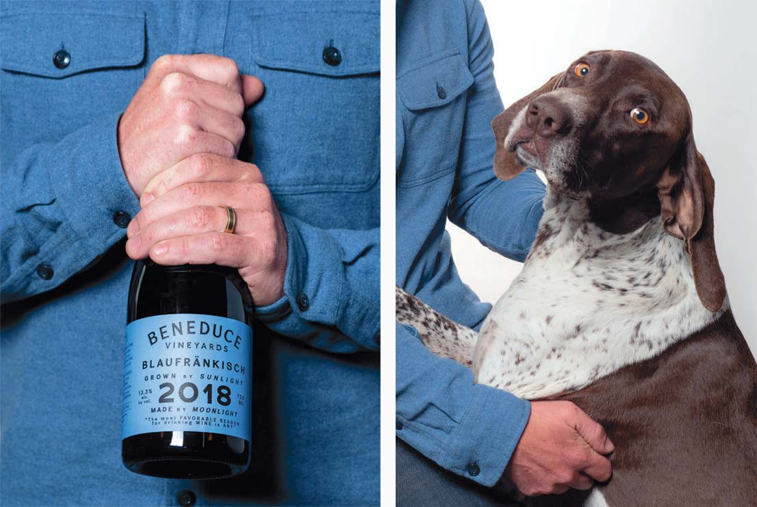 Beneduce wine and dog