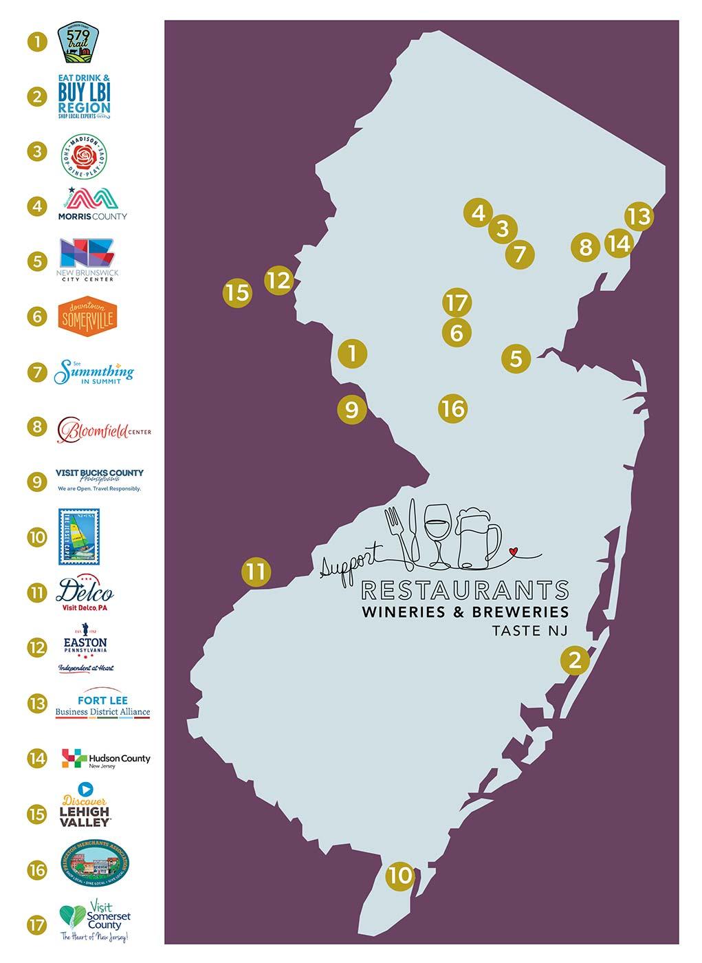 edible destinations map