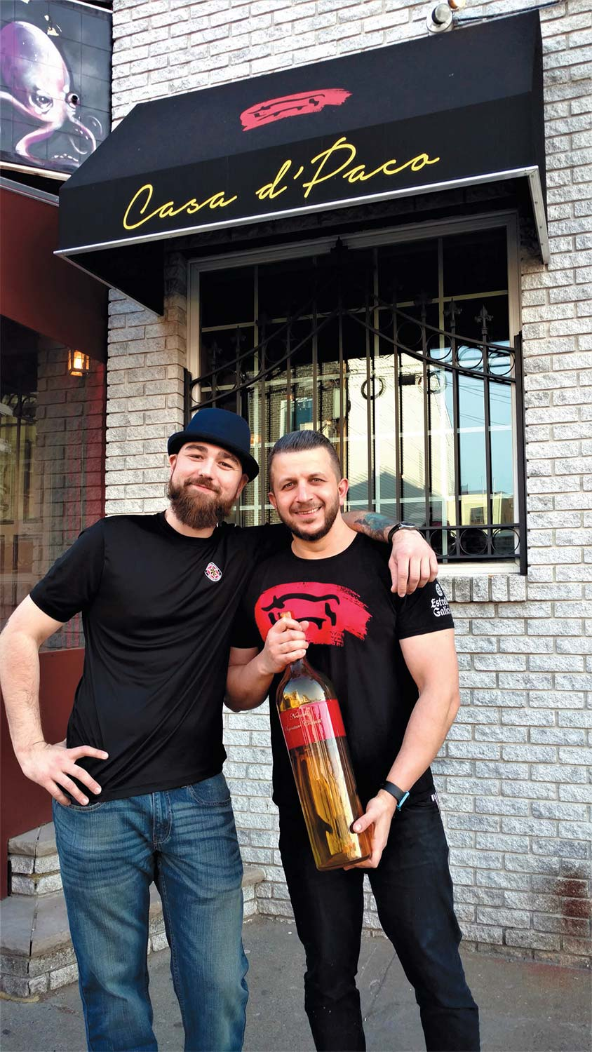 Casa d'Paco owner Angel Leston (left) and Todor, the bartender who created the drink. Trophy by GlassRoots, Newark.