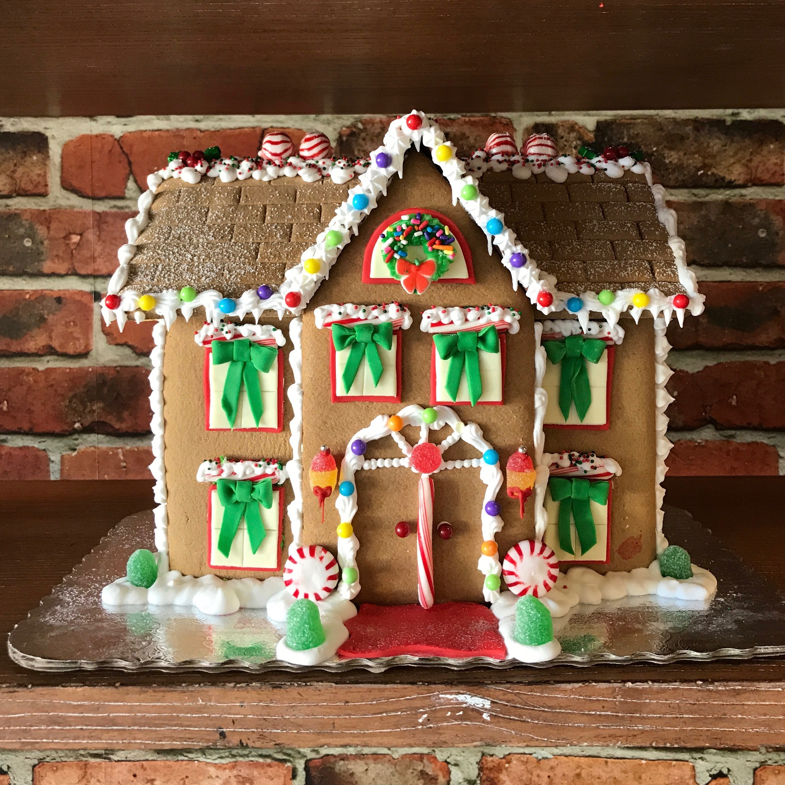 Gingerbread House Decorating with Santa