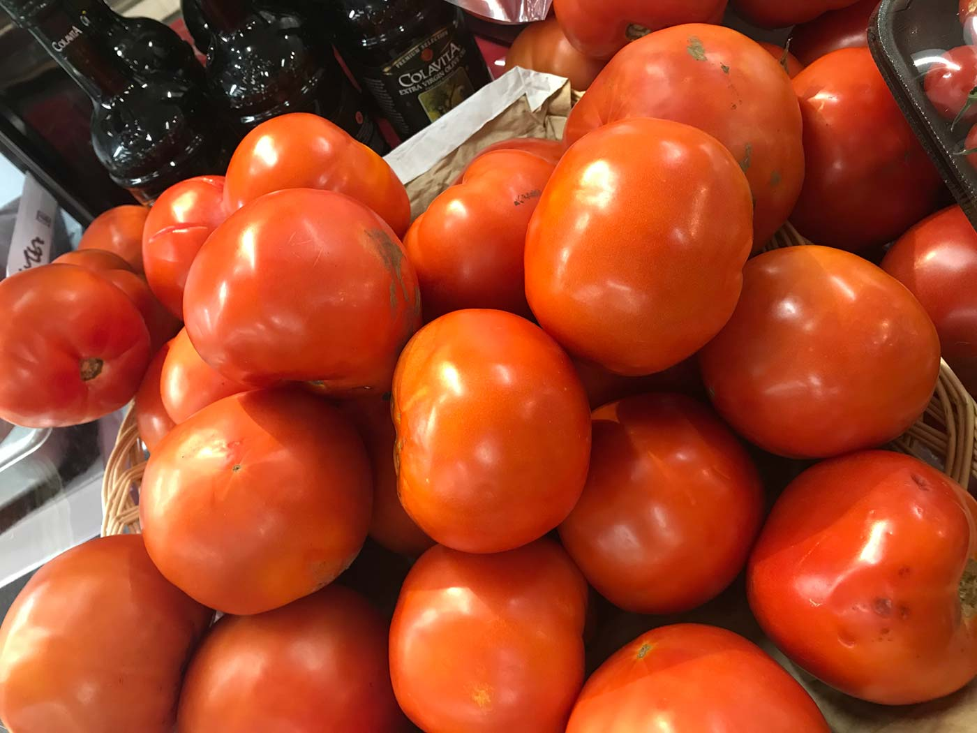 A basket of New Jersey tomatoes