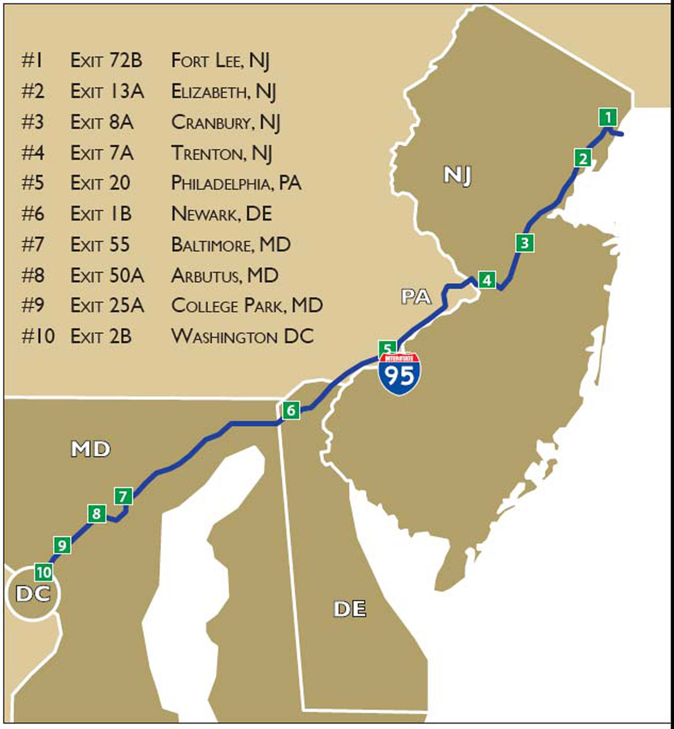 Fort Lee New Jersey Map.Dining Stops Worth Making Along I 95 Edible Jersey