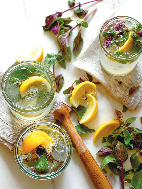 Gin Basil Smash Cocktail Recipe Edible Jersey
