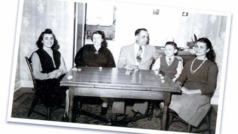 Jules and Lucia and their kids at home in the 1940s.