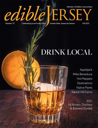 Edible Jersey magazine cover for Fall 2021 - Drink Local issue