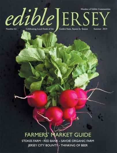 Radishes - Edible Jersey Magazine cover Summer 2019
