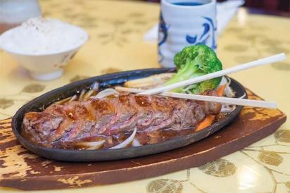 Beef teriyaki from Mahzu