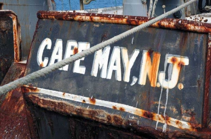 Cape May, NJ on a dingy