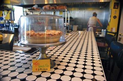 Homemade gluten free peach pie
