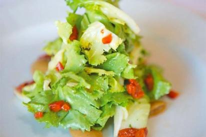 Baby escarole salad from CulinAriane
