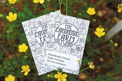The Experimental Farm Network's retail seed packets