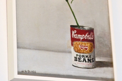 campbell soup can painting on wall
