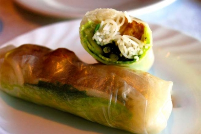 Country style summer rolls at Little Saigon