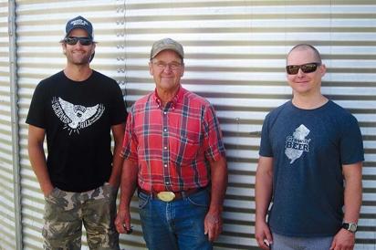 Brett Bullock, his father, Marty Bullock, and Ryan Cole