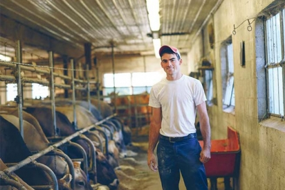 Jared Week of Hun-Val Farms
