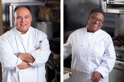 Chef Armando Miranda and Chef Pearl Thompson