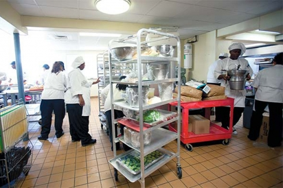Class in session at Promise Culinary School