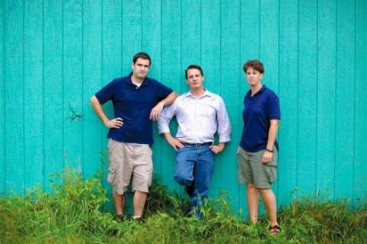 Art Rhea, Beau Byrtus and Marylu Hansen of Oast House Hop Farm in Wrightstown