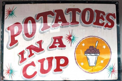 potatoes in a cup