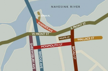 A map of Red Bank