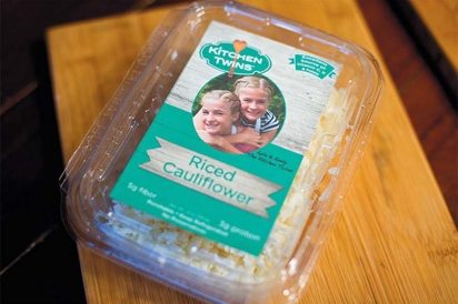 A box of their branded riced cauliflower