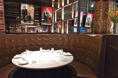 table at brickwall