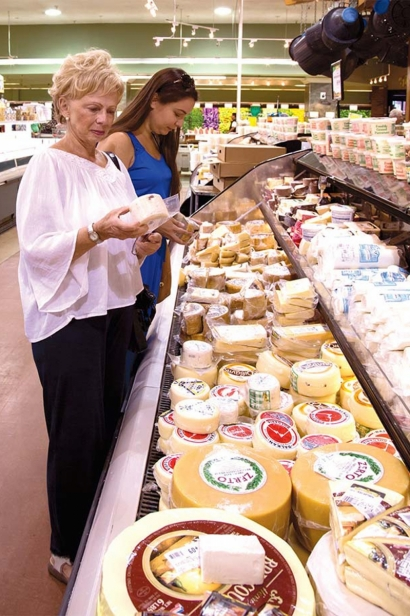 The author and her mother shopping at Corrado's Market