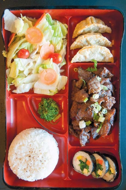 Kalbi lunch combo