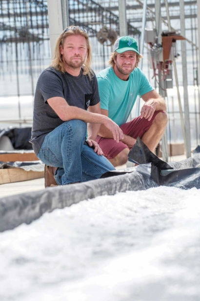 Derek Thomas and Lucas Manteca of Cape May Sea Salt Co.