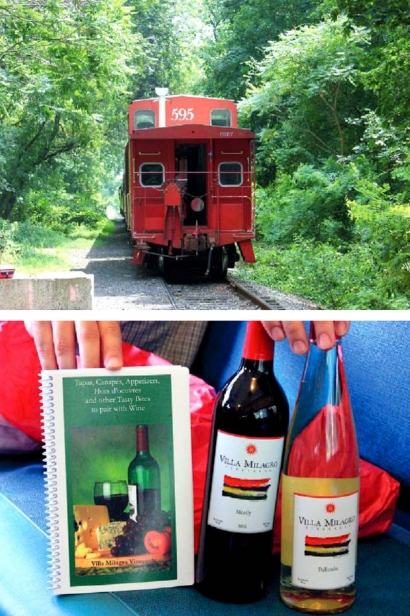aboard the wine train