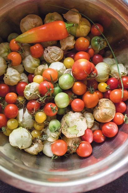pot of veggies