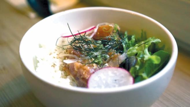 Donburi, a rice-based dish