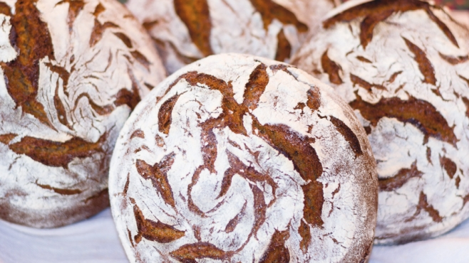 European-style, naturally leavened bread