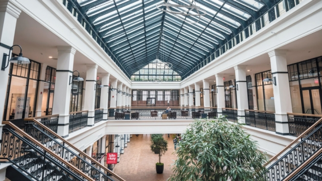 Atrium at Hahne & Co. on Halsey Street