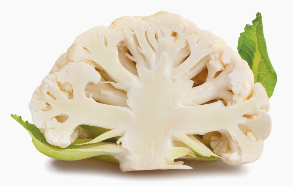 cross-section of a cauliflower