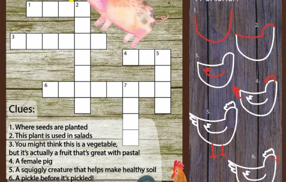 Food related puzzles for kids