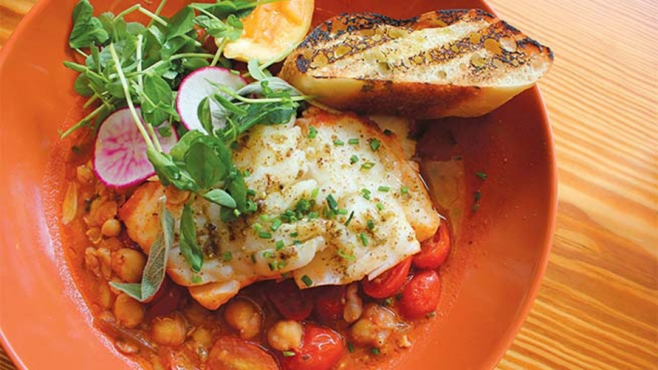 Moroccan fish stew at Mishmish