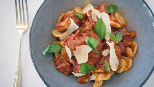 Oxtail and Tomato Stew with Orecchiette